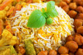 Vegetarian biryani rice close up or briyani fresh cooked with steam delicious indian food Stock Photo