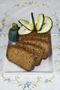 Vegetarian cake made with vegetables of zucchini ginger and lemon peel Stock Photography