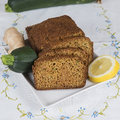 Vegetarian cake made with vegetables of zucchini ginger and lemon peel Stock Image