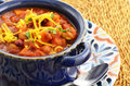 Vegetarian chili nutritious full of tomato beans peppers sweet potato and corn Royalty Free Stock Image
