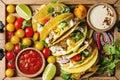 Vegetarian corn tacos Royalty Free Stock Photo