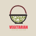 Vegetarian design over background vector illustration Royalty Free Stock Images