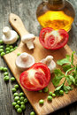 Vegetarian diet food salad Royalty Free Stock Image