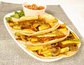 Vegetarian fajitas Royalty Free Stock Photo