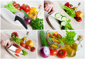 Vegetarian food collage Royalty Free Stock Photography