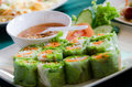 Vegetarian fresh spring rolls Royalty Free Stock Photo