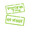 Vegetarian and go veggie buttons
