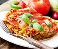 Vegetarian Lasagna Royalty Free Stock Photo