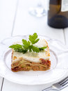 Vegetarian lasagne with tomatoes zucchini and feta cheese Royalty Free Stock Photography