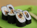 Vegetarian Maki Sushi Royalty Free Stock Photo
