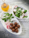 Vegetarian meatballs with slice Stock Images