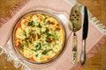 Vegetarian Moussaka. Traditional Greek dishes. Royalty Free Stock Photo