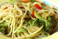 Vegetarian Noodles Stock Images