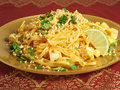 Vegetarian Pad Thai Royalty Free Stock Photo