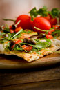 Vegetarian Pizza Royalty Free Stock Photo