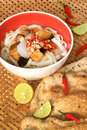 Vegetarian quang style noodle mì quảng also spelled my quảng literally quảng is a vietnamese dish that originated from Royalty Free Stock Images