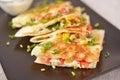 Vegetarian quesadilla Royalty Free Stock Photo