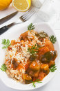 Vegetarian rice with vegetables Stock Photos