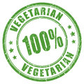 100 vegetarian rubber stamp Royalty Free Stock Photo