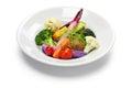 Vegetarian salad healthy lifestyle symbol isolated on white background Stock Photography