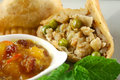 Vegetarian Samosa Stock Photography