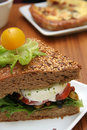 Vegetarian sandwich Royalty Free Stock Photos