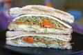 Vegetarian Sandwich Stock Photo