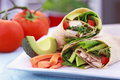 Vegetarian Sandwich Wrap Stock Photography