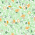 Vegetarian seamless pattern of green vegetables