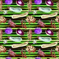 Vegetables Seamless Pattern. Repeatable Pattern with Healthy Food.