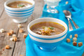 Vegetarian soup with mushroom selective focus Royalty Free Stock Photography
