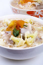 Vegetarian soup noodles Stock Photo