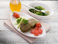Vegetarian spinach croquettes Royalty Free Stock Photo