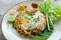 Vegetarian thai food (Pad Thai) Stock Photos
