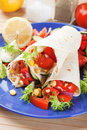 Vegetarian tortilla wraps Stock Image