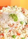 Vegetarische maaltijd, gezonde levensstijl Stock Foto's