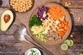 Veggie bowl on wood background Stock Image