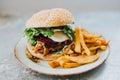 Veggie burger Royalty Free Stock Photo