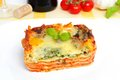 Veggie lasagna fresh vegetarian with vegetables Royalty Free Stock Images