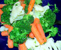 Veggies assortment on display at dinner table Royalty Free Stock Photography