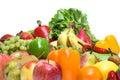 Vehículos y frutas aislados Foto de archivo libre de regalías
