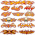 Vehicle car and bike color vinyl decals isolated vector set Royalty Free Stock Photo