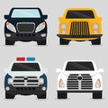 Vehicle design over white background illustration Stock Photos