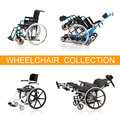 Vehicle for handicapped persons wheelchairs Stock Photography