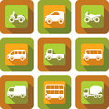 Vehicle icon design set or transport Stock Photo