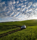 Vehicle Off-road In Open Country Royalty Free Stock Photo
