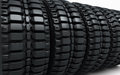 Vehicle perspective tires d render depth of field Royalty Free Stock Image