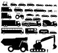 Vehicle silhouette vector illustration background Stock Photography
