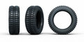 Vehicle tires d rendering isolated on white and clipping path Royalty Free Stock Photography