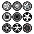 Vehicle wheels and tires